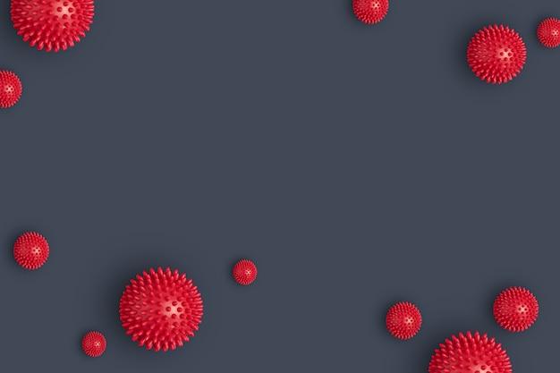 ウイルスのパンデミックの抽象的な背景