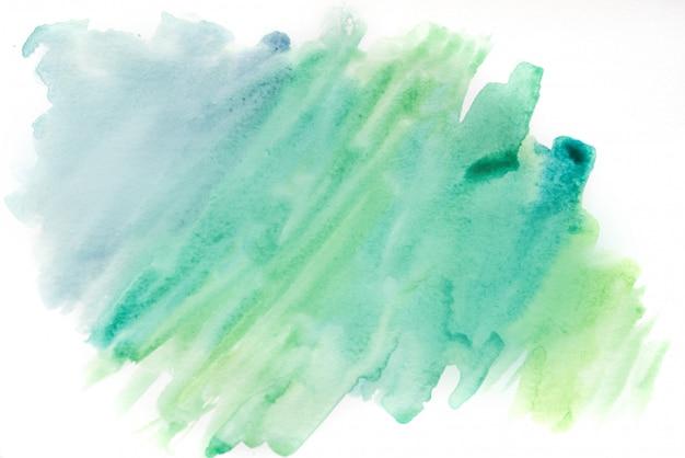 背景の水彩画、青と緑。抽象的な背景テクスチャ