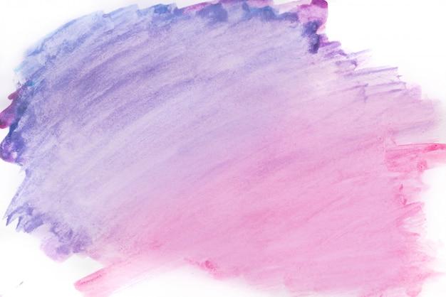 背景の水彩画、紫の色。明るい紫色の水彩画の汚れ