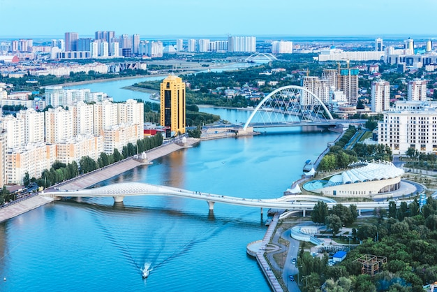 カザフスタンアスタナの首都の風景