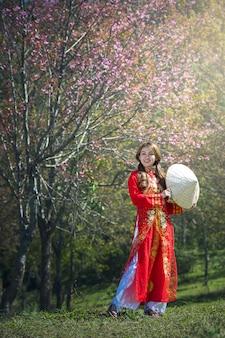 Портрет вьетнамских девушек с ао дай, вьетнамское традиционное платье