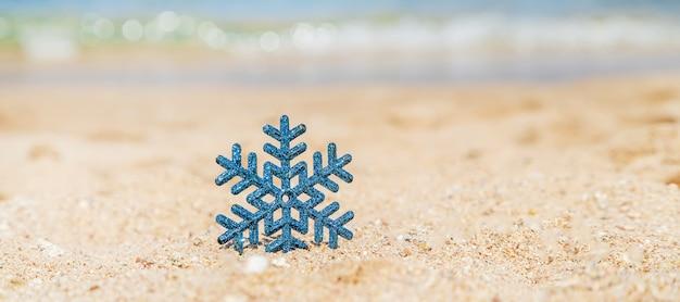 ビーチでのクリスマス。旅行。