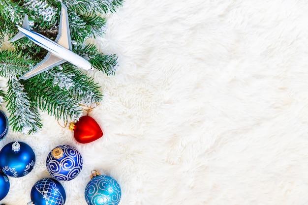 旅行のテーマのクリスマスの背景