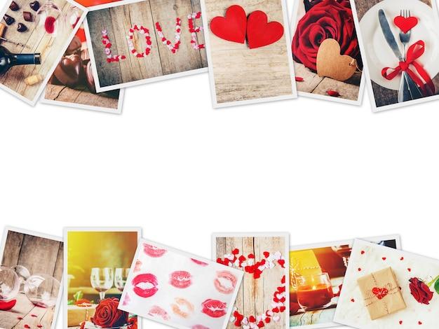 愛とロマンスのコラージュ。セレクティブフォーカス