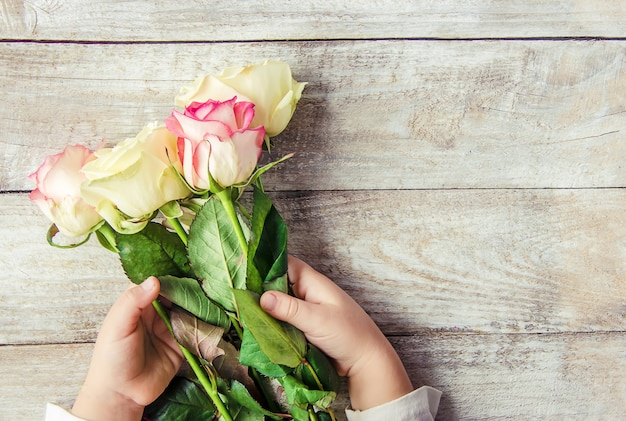 ギフトと花セレクティブフォーカス休みとイベント。