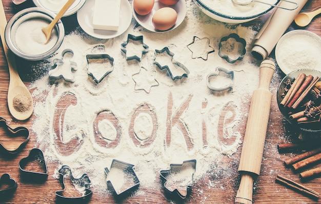 ペストリー、ケーキ、自分の手で調理します。セレクティブフォーカス