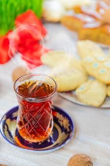 ノヴルーズアゼルバイジャンの伝統新年。セレクティブフォーカス
