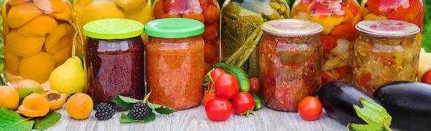 野菜の保存ブランクセレクティブフォーカス自然。