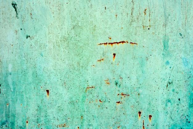 グランジの緑の鉄のテクスチャ背景