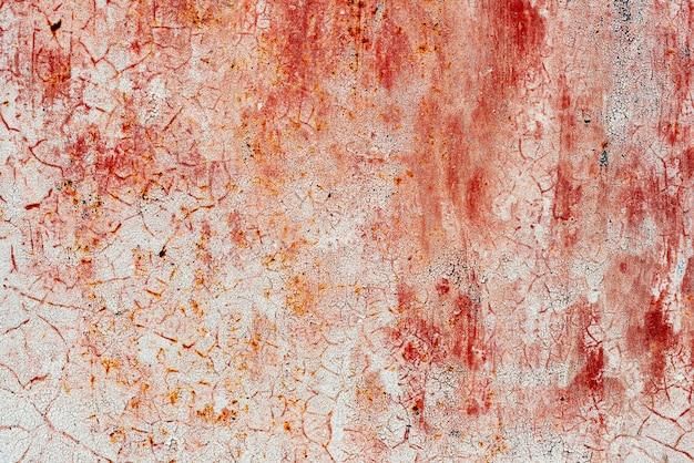 傷や亀裂のある金属の質感