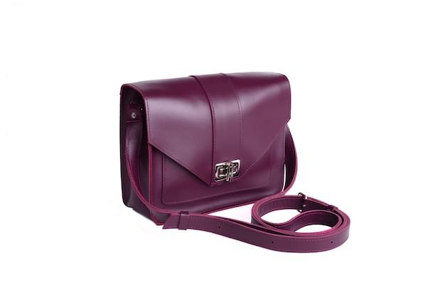 美しい革の女性のハンドバッグ