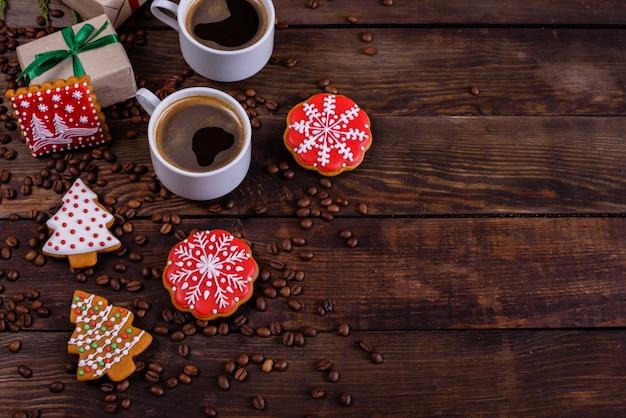 香り豊かなコーヒーとギフトでクリスマスの朝