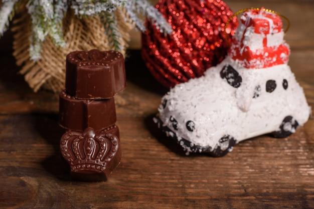 高級チョコレート菓子の品揃え