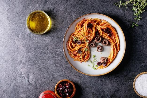 イタリアの定番スパゲッティアンチョビパスタ