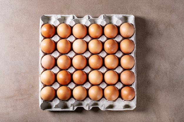 カートンボックスの卵