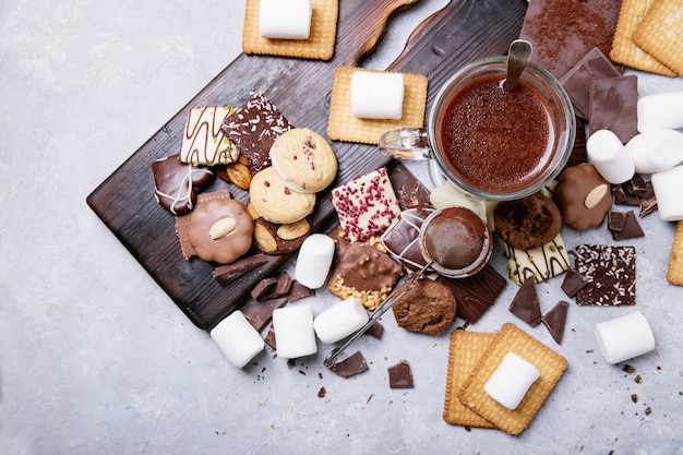 自家製ホットチョコレートドリンク
