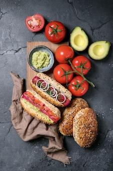 菜食主義のホットドッグ