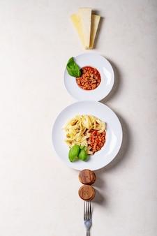 調理スパゲッティボロネーゼ