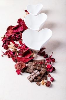День святого валентина керамические тарелки