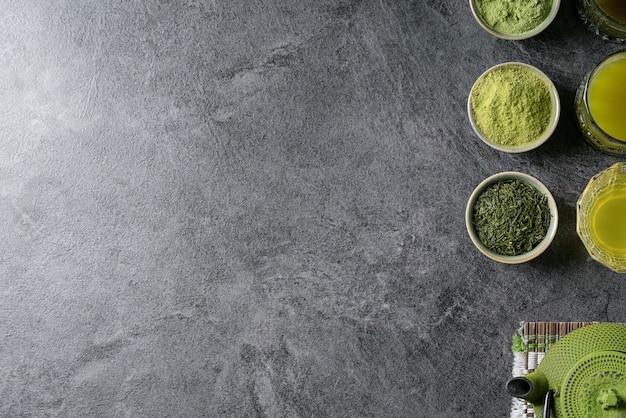 Разновидности чая маття