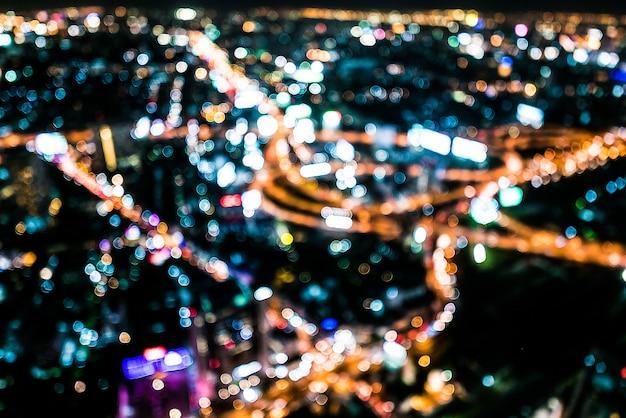 Абстрактный город боке свет