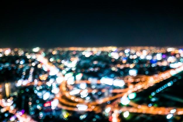 抽象的な都市のボケ灯