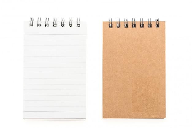 Пустой макет записная книжка