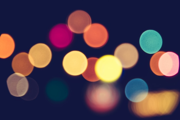 抽象的なボケの光