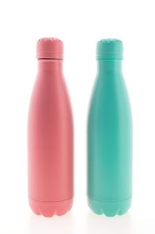 ステンレス真空フラスコと瓶