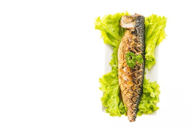 サバ魚のグリル添え