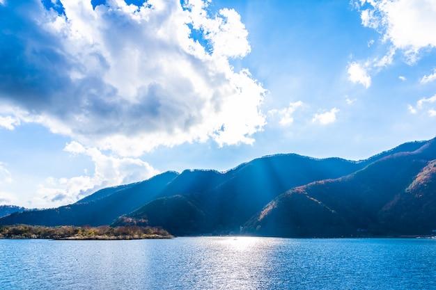 河口湖周辺の美しい風景