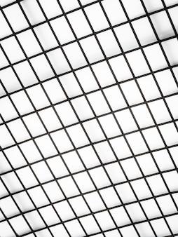 ガラス屋根外装の抽象的な建築