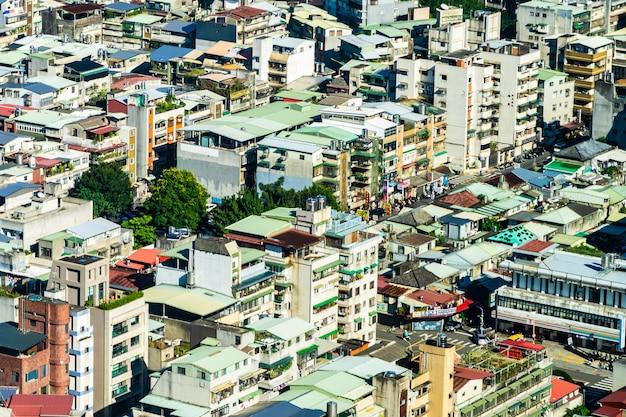 Экстерьер здания архитектуры в городе тайбэя в тайване