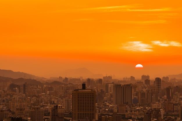 Красивое здание архитектуры город тайбэй