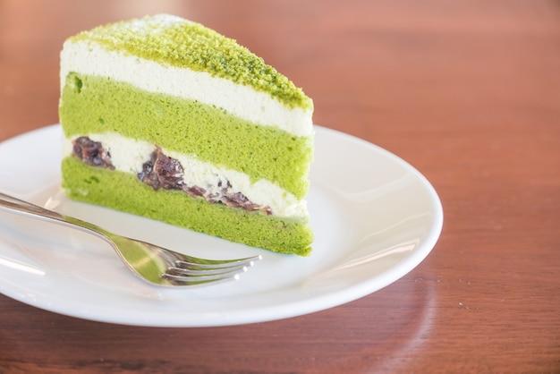 Пирожные с зеленым чаем