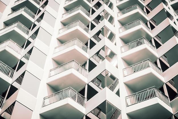 建物の窓パターンテクスチャ外観