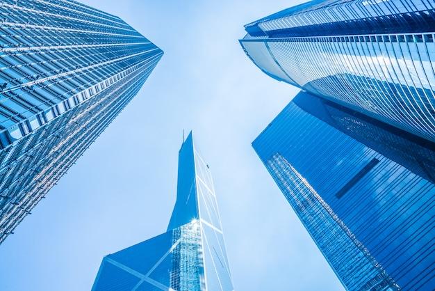 Здание бизнес-небоскреба в городе гонконг