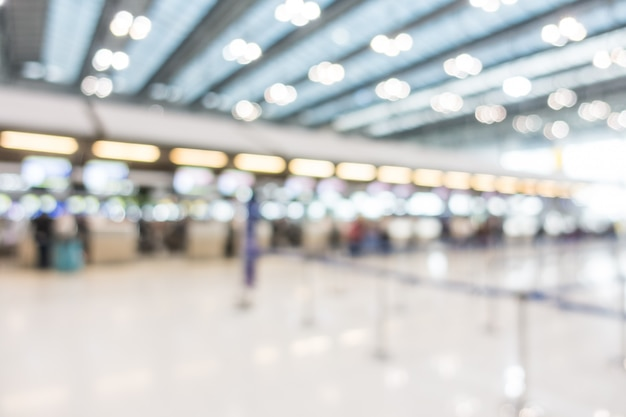 Абстрактный размытия интерьер аэропорта
