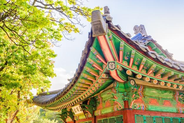 Архитектура во дворце чхандоккун в сеуле, корея
