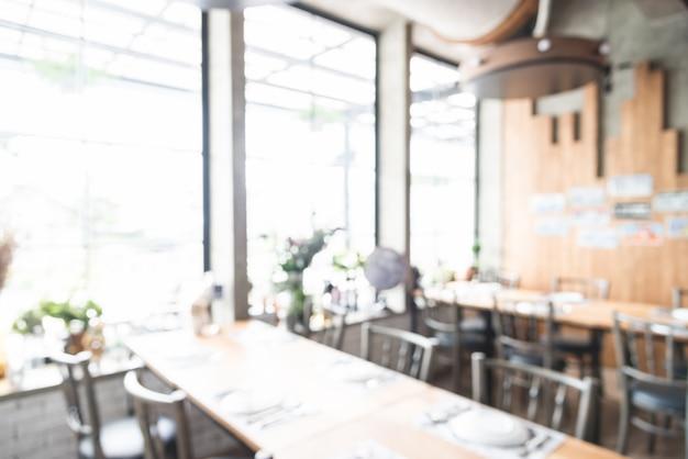 抽象的なぼかしレストランのインテリアの背景