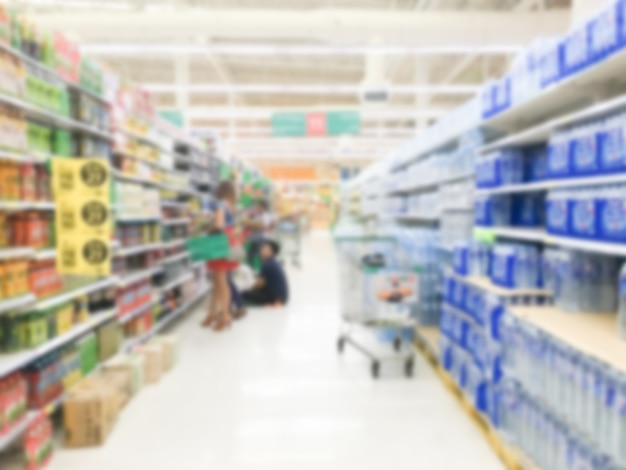 抽象的なぼかし高級小売店やショッピングモールのインテリアの背景