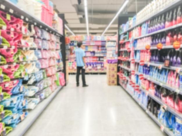 抽象的なぼかしスーパーマーケット