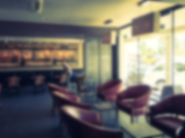 抽象的なぼかしコーヒーショップ