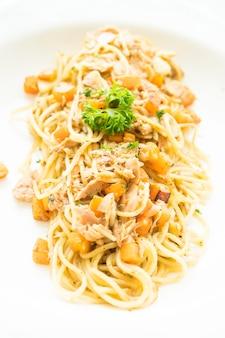 マグロのスパゲッティ