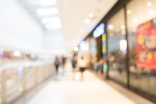 抽象的なぼかし美しい高級ショッピングモールのインテリア