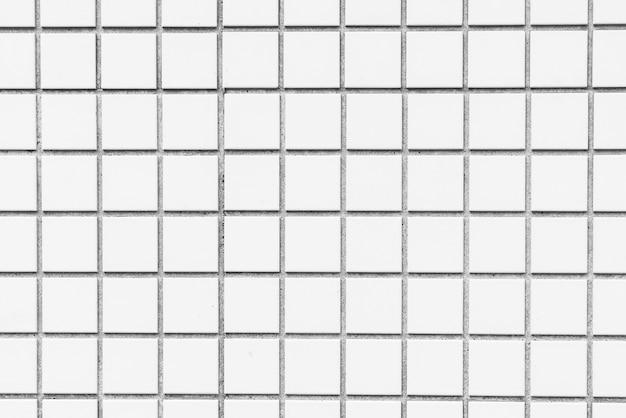 白いタイル壁のテクスチャ