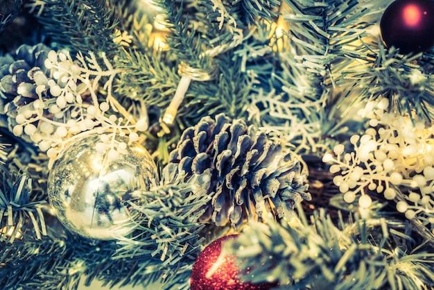 クリスマスの飾り飾りの背景