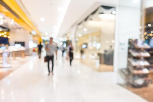 抽象的なぼかし美しい高級ショッピングモールや小売店