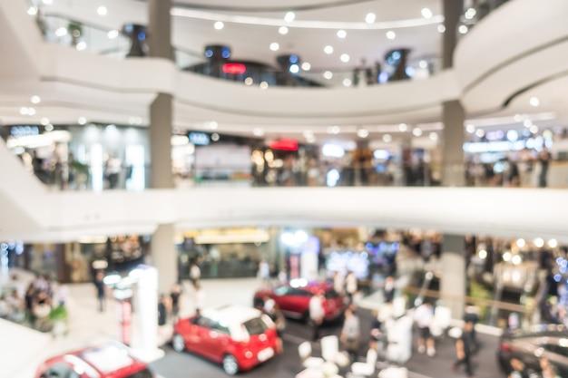 抽象的なぼかしショッピングモールや小売店の背景のインテリア