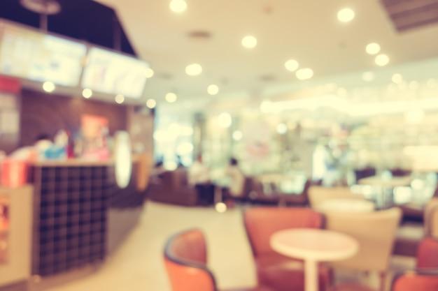 抽象的なぼかしレストランとコーヒーショップカフェ